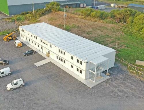 Containeranlage als Baubüro