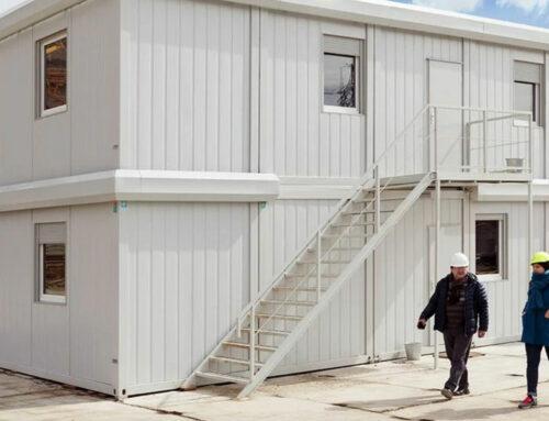 Baubüro auf Wanderschaft